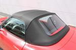 Potah střechy střecha Fiat Barchetta materiál textilní sonnenland černá, VYMĚNITELNÉ OKNO NA ZIP