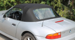 Potah střechy střecha BMW Z3 materiál textilní sonnenland černá VYMĚNITELNÉ OKNO NA ZIP